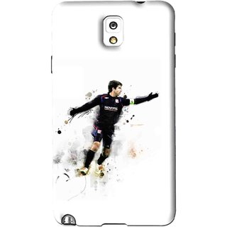 Snooky Printed Pass Me Mobile Back Cover For Samsung Galaxy Note 3 - White