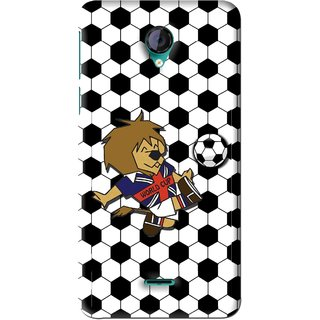Snooky Printed Football Cup Mobile Back Cover For Micromax Canvas Unite 2 - Multi