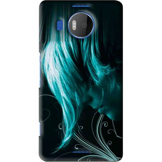 Snooky Printed Mistery Boy Mobile Back Cover For Microsoft Lumia 950 XL - Black