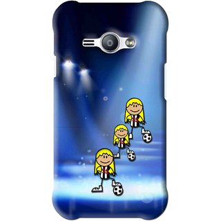 Snooky Printed Girls On Top Mobile Back Cover For Samsung Galaxy Ace J1 - Blue