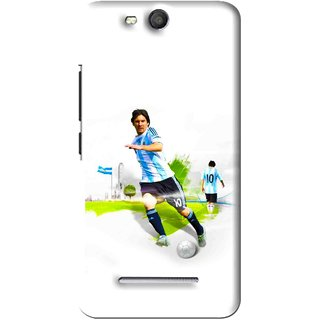 Snooky Printed Football Mania Mobile Back Cover For Micromax Bolt Q392 - White