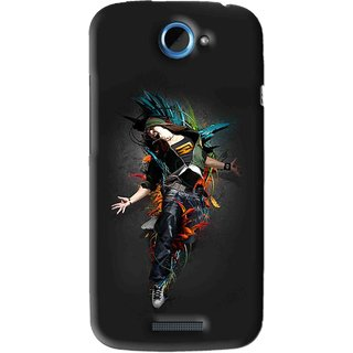 Snooky Printed Music Mania Mobile Back Cover For HTC One S - Black