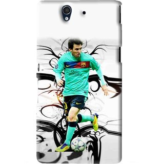 Snooky Printed Football Champion Mobile Back Cover For Sony Xperia Z - White