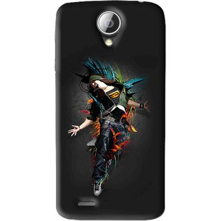 Snooky Printed Music Mania Mobile Back Cover For Lenovo A830 - Black