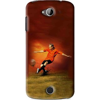 Snooky Printed Football Mania Mobile Back Cover For Acer Liquid Z530 - Brown