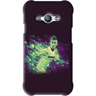 Snooky Printed Running Boy Mobile Back Cover For Samsung Galaxy Ace J1 - Blue