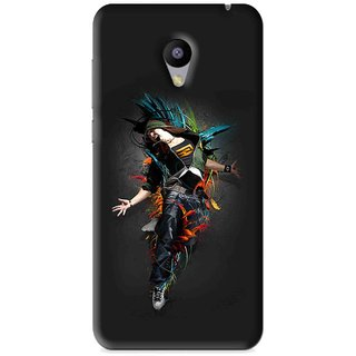Snooky Printed Music Mania Mobile Back Cover For Meizu M2 - Black