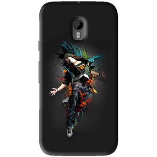 Snooky Printed Music Mania Mobile Back Cover For Moto G3 - Black