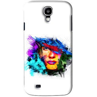 Snooky Printed Dashing Girl Mobile Back Cover For Samsung Galaxy S4 - White