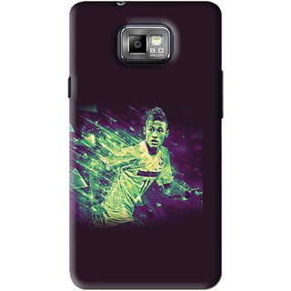 Snooky Printed Running Boy Mobile Back Cover For Samsung Galaxy S2 - Blue