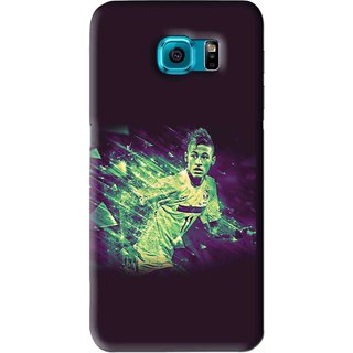 Snooky Printed Running Boy Mobile Back Cover For Samsung Galaxy S6 - Blue
