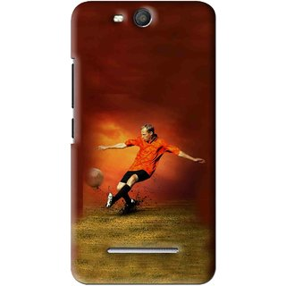 Snooky Printed Football Mania Mobile Back Cover For Micromax Bolt Q392 - Brown