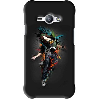Snooky Printed Music Mania Mobile Back Cover For Samsung Galaxy Ace J1 - Black
