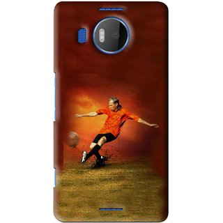 Snooky Printed Football Mania Mobile Back Cover For Microsoft Lumia 950 XL - Brown