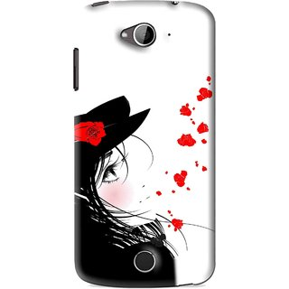 Snooky Printed Mistery Girl Mobile Back Cover For Acer Liquid Z530 - Black