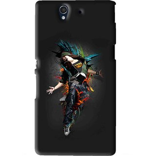 Snooky Printed Music Mania Mobile Back Cover For Sony Xperia Z - Black