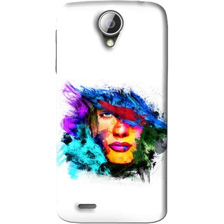 Snooky Printed Dashing Girl Mobile Back Cover For Lenovo S820 - White