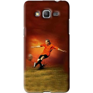 Snooky Printed Football Mania Mobile Back Cover For Samsung Galaxy Grand Prime - Brown