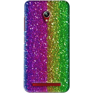 Snooky Printed Sparkle Mobile Back Cover For Asus Zenfone Go - Multi