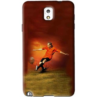 Snooky Printed Football Mania Mobile Back Cover For Samsung Galaxy Note 3 - Brown