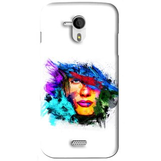 Snooky Printed Dashing Girl Mobile Back Cover For Micromax Canvas HD A116 - White