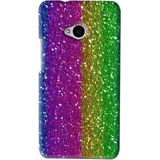 Snooky Printed Sparkle Mobile Back Cover For HTC One M7 - Multi