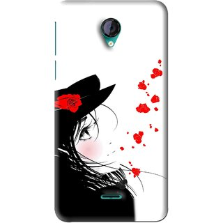 Snooky Printed Mistery Girl Mobile Back Cover For Micromax Canvas Unite 2 - Black