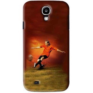 Snooky Printed Football Mania Mobile Back Cover For Samsung Galaxy S4 - Brown