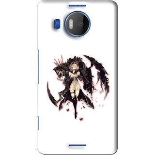 Snooky Printed Kungfu Girl Mobile Back Cover For Microsoft Lumia 950 XL - White