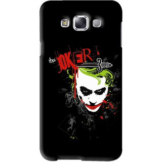 Snooky Printed The Joker Mobile Back Cover For Samsung Galaxy E5 - Black