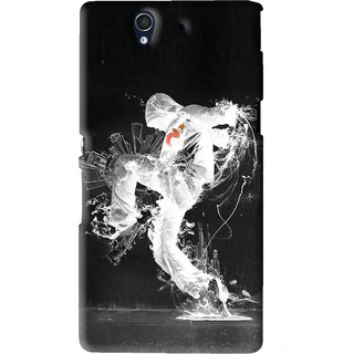Snooky Printed Dance Mania Mobile Back Cover For Sony Xperia Z - Black