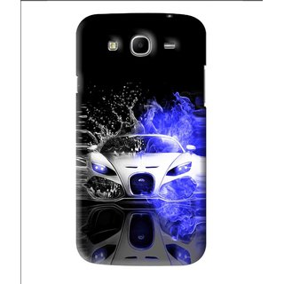 Snooky Printed Super Car Mobile Back Cover For Samsung Galaxy Mega 5.8 - Black
