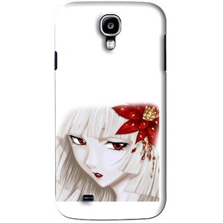 Snooky Printed Chinies Girl Mobile Back Cover For Samsung Galaxy S4 - White