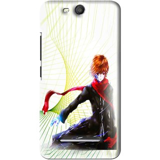 Snooky Printed Stylo Boy Mobile Back Cover For Micromax Bolt Q392 - Multi