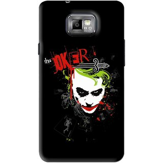 Snooky Printed The Joker Mobile Back Cover For Samsung Galaxy S2 - Black
