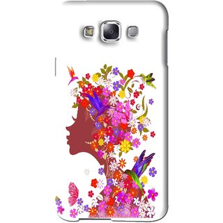 Snooky Printed Girl Beauty Mobile Back Cover For Samsung Galaxy E5 - Pink