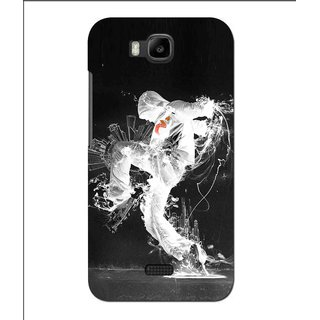 Snooky Printed Dance Mania Mobile Back Cover For Huawei Y560 - Black