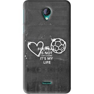 Snooky Printed Football Life Mobile Back Cover For Micromax Canvas Unite 2 - Black