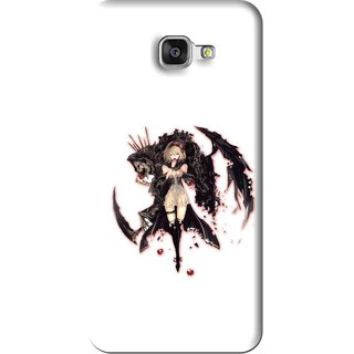 Snooky Printed Kungfu Girl Mobile Back Cover For Samsung Galaxy A5 2016 - White