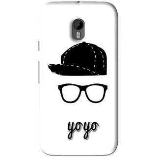 Snooky Printed Yo Yo Mobile Back Cover For Moto G3 - White