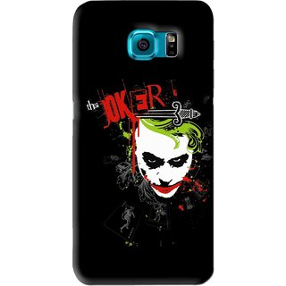 Snooky Printed The Joker Mobile Back Cover For Samsung Galaxy S6 - Black
