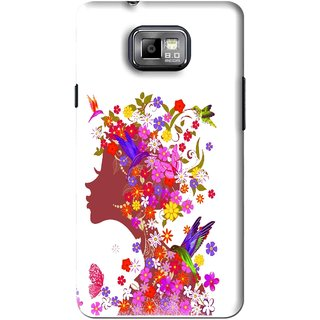 Snooky Printed Girl Beauty Mobile Back Cover For Samsung Galaxy S2 - Pink