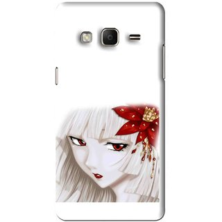 Snooky Printed Chinies Girl Mobile Back Cover For Samsung Tizen Z3 - White