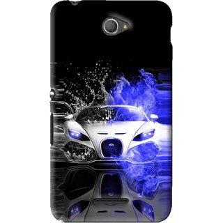 Snooky Printed Super Car Mobile Back Cover For Sony Xperia E4 - Black