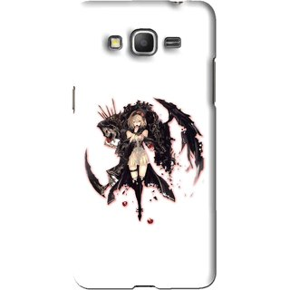 Snooky Printed Kungfu Girl Mobile Back Cover For Samsung Galaxy Grand Prime - White