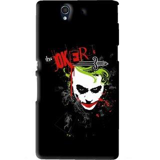 Snooky Printed The Joker Mobile Back Cover For Sony Xperia Z - Black