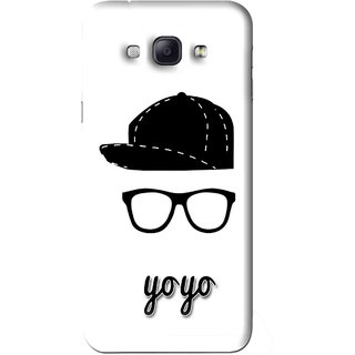 Snooky Printed Yo Yo Mobile Back Cover For Samsung Galaxy A8 - White