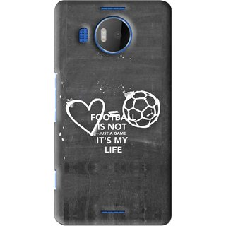 Snooky Printed Football Life Mobile Back Cover For Microsoft Lumia 950 XL - Black