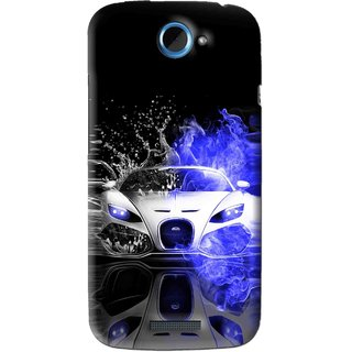 Snooky Printed Super Car Mobile Back Cover For HTC One S - Black