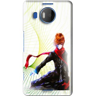 Snooky Printed Stylo Boy Mobile Back Cover For Microsoft Lumia 950 XL - Multi